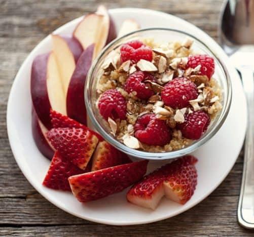 Здоровый завтрак на правильном питании