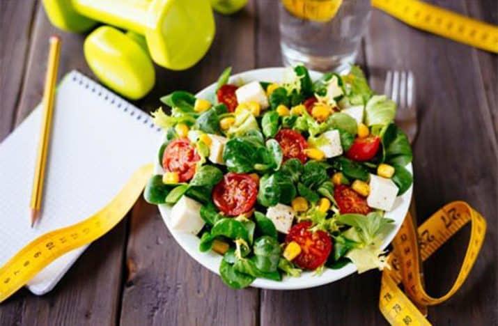 Овощной салат для правильного питания