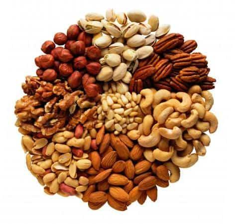 Орехи с высоким содержанием аргинина